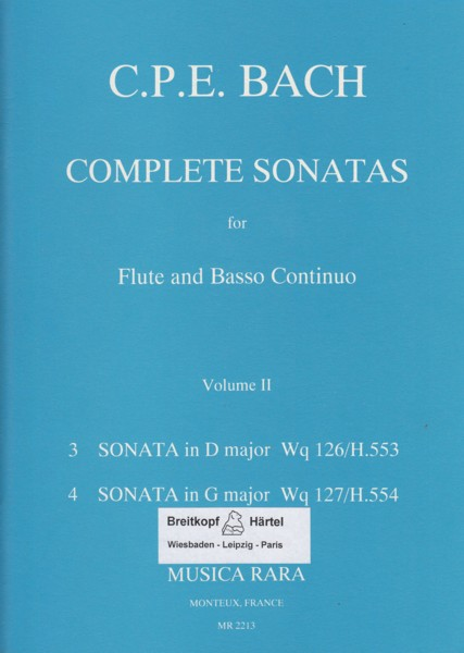 Image for Complete Sonatas for Flute & Basso Continuo Volume II