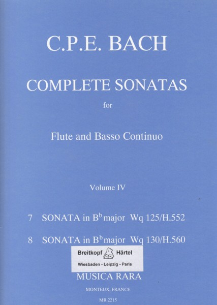 Image for Complete Sonatas for Flute & Basso Continuo Volume IV
