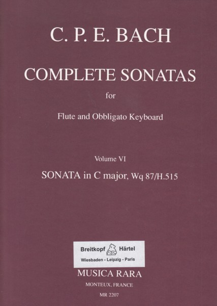 Image for Complete Sonatas for Flute & Basso Continuo Volume VI