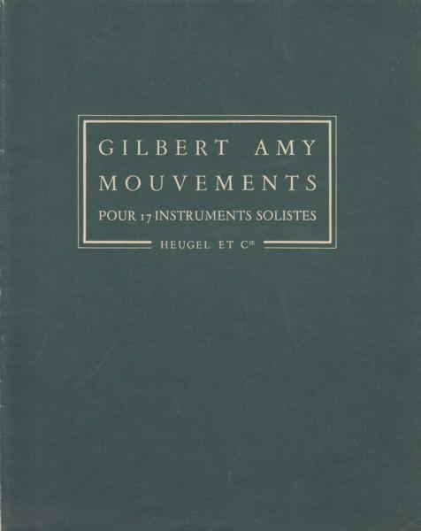 Mouvements pour 17 Instruments Solistes - Study Score