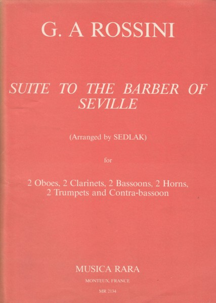 Image for Suite to The Barber of Seville for 11 wind - Score & Parts