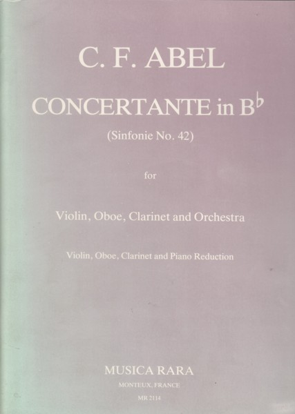 Image for Concertante in B flat (Sinfonie No.42) for Violin, Oboe, Clarinet in B flat and Piano - Set of Parts