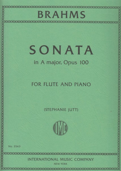 Image for Sonata in A major, Op.100 for Flute & Piano