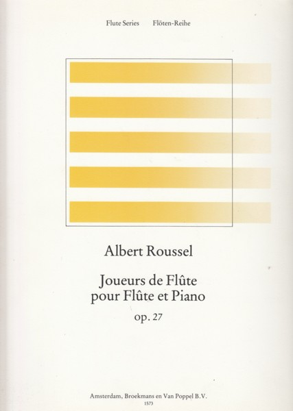 Image for Joueurs de Flte, Op.27 for Flute and Piano