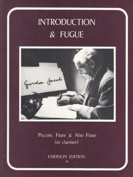 Image for Introduction & Fugue for Piccolo, Flute & Alto Flute (or Clarinet) - Score & Parts
