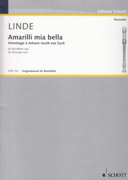 Image for Amarilli mia bella, Hommage àJohann Jacob van Eyck for Recorder Solo