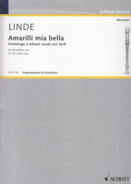 Amarilli mia bella, Hommage àJohann Jacob van Eyck for Recorder Solo