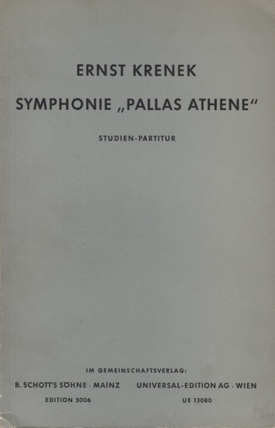 "Image for Symphonie ""Pallas Athene"" for Orchestra - Study Score"