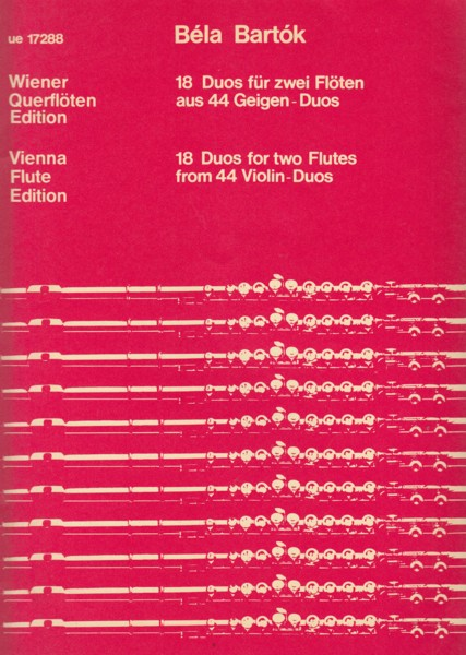 Image for 18 Duos for Two Flutes from 44 Violin Duos