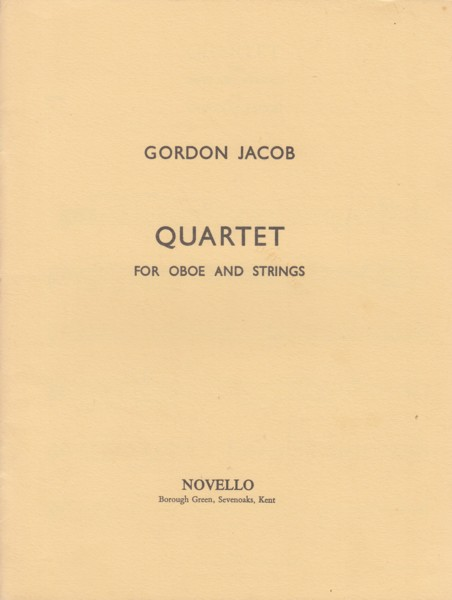Quartet for Oboe and Strings - Set of Parts