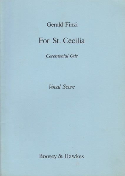 Image for For St. Cecilia, Ceremonial Ode - Vocal Score