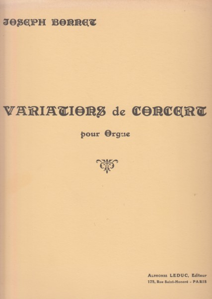 Image for Variations de Concert pour Orgue, Op.1