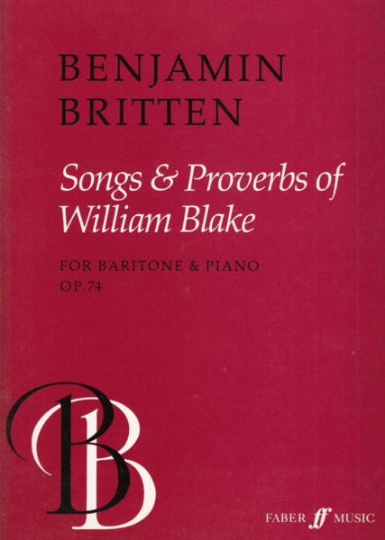Image for Songs & Proverbs of William Blake, Op.74 - Baritone & Piano