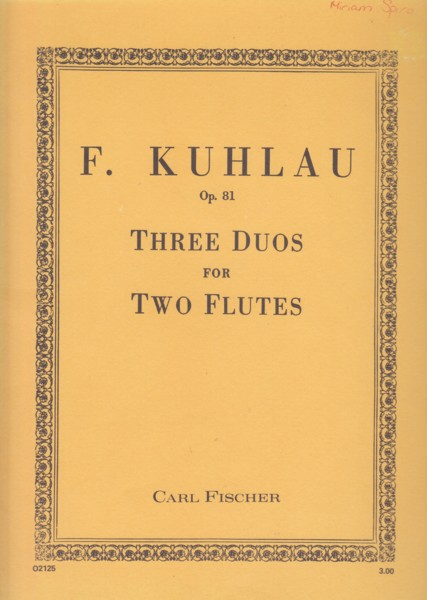 Image for Three Duos for Two Flutes, Op.81