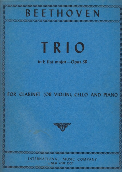Image for Trio in E flat major, Op.38 for Clarinet in B flat (or Violin), Cello & Piano - Set of Parts