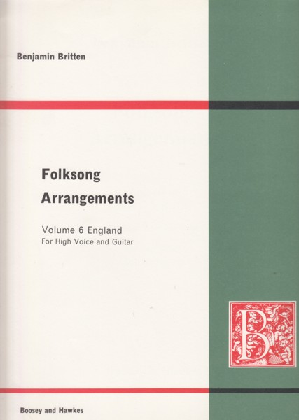 Image for Folksong Arrangements Volume 6 England - High Voice & Guitar