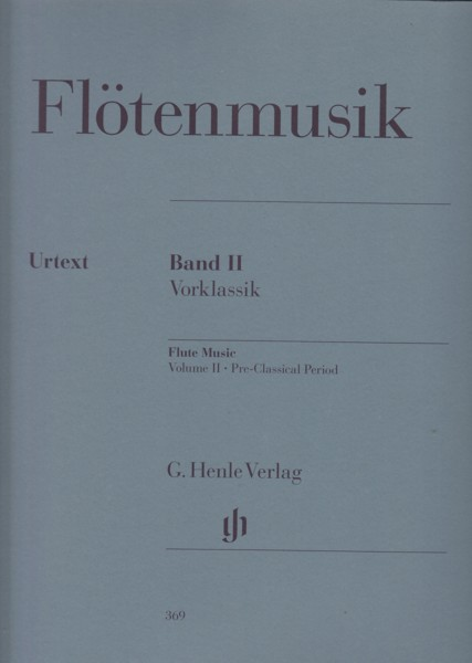 Image for Flute Music Volume II - Pre Classical Period