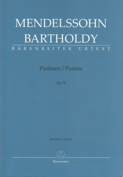 Image for Psalms, Op.78 - Vocal Score