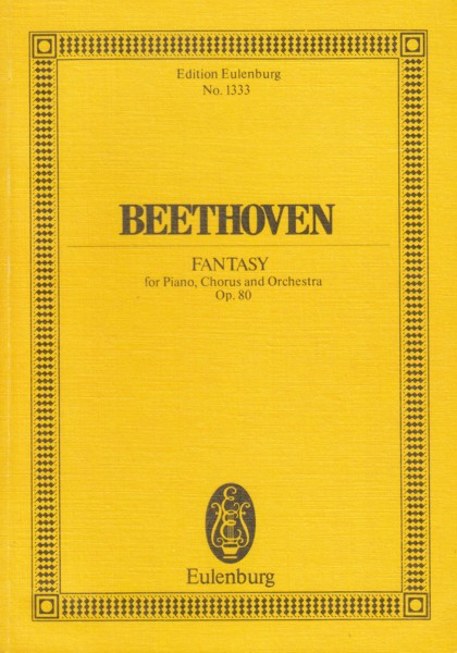 Image for Fantasy for Piano, Chorus and Orchestra, Op.80 - Study Score