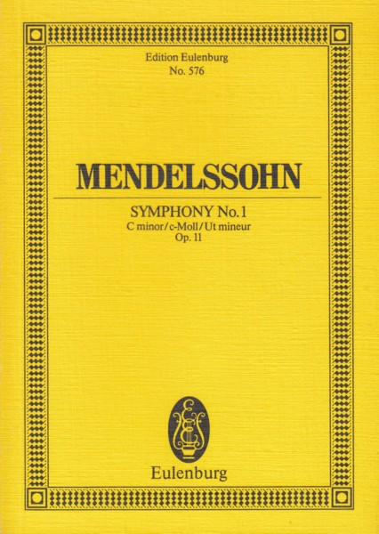 Image for Symphony No.1 in c minor, Op.11 - Study Score