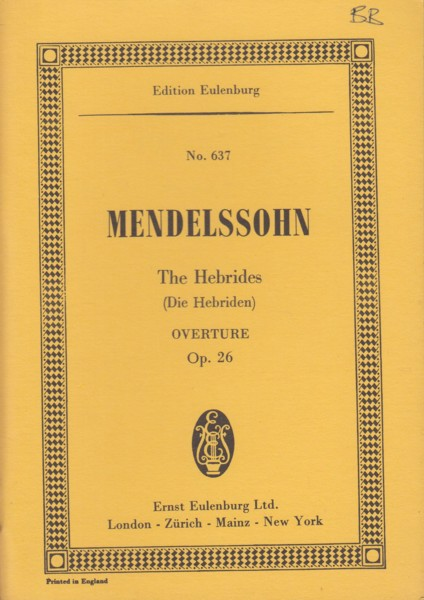 Image for The Hebrides Overture, Op.26 - Study Score
