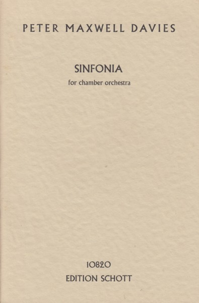 Image for Sinfonia for Chamber Orchestra - Study Score