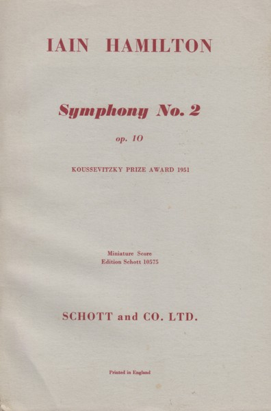 Image for Symphony No.2, Op.10 - Study Score