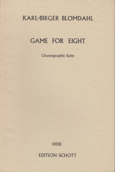 Image for Game for Eight, Choreographic Suite for Chamber Orchestra (1962) - Study Score