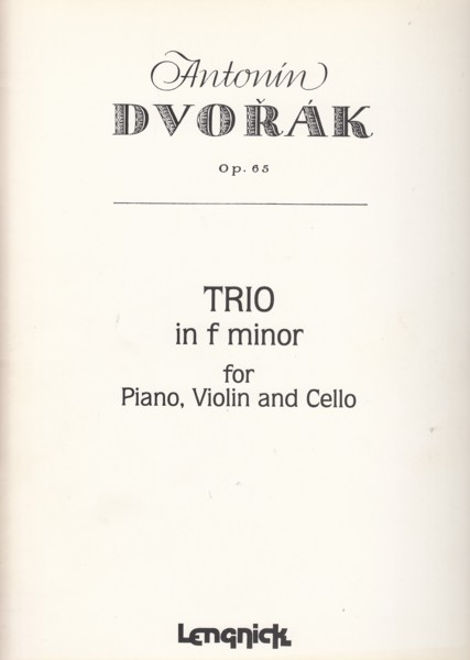 Image for Piano Trio in f minor, Op.65 - Set of Parts