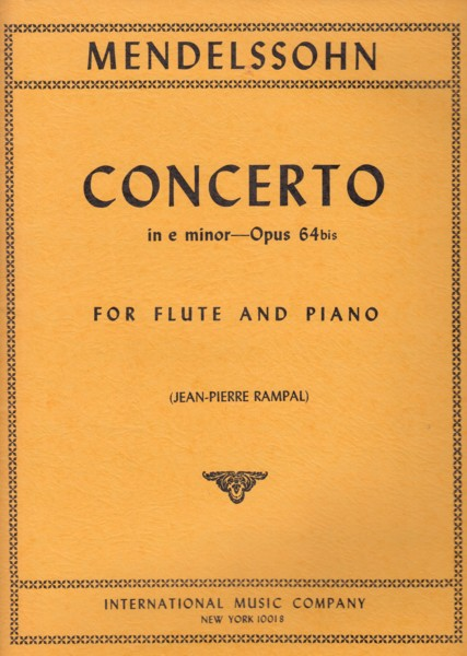 Image for Flute Concerto in e minor, Op.64 bis - Flute & Piano
