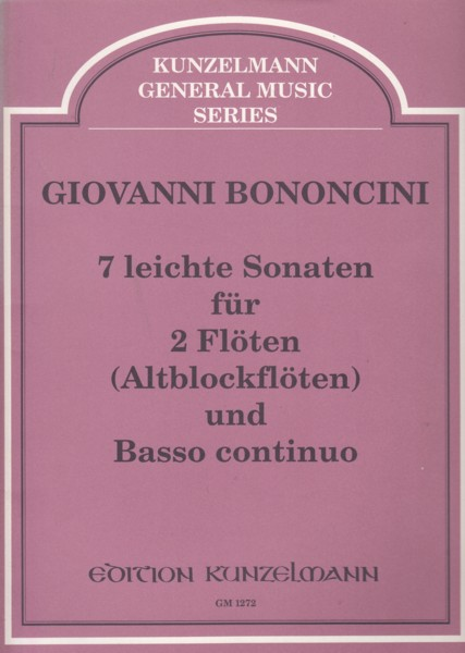 Image for 7 Easy Sonatas for 2 Flutes (Treble Recorders) and Basso continuo - Set of Parts