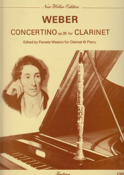 Image for Clarinet Concertino in E flat major, Op.26 - Clarinet & Piano