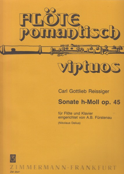 Image for Sonata in b minor, Op.45 for Flute and Piano