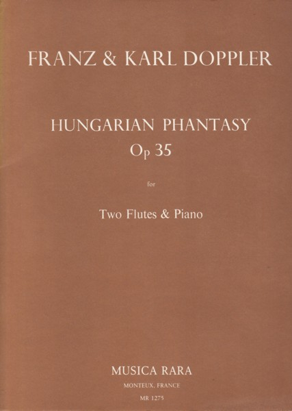 Image for Hungarian Phantasy, Op.35 for Two Flutes and Piano