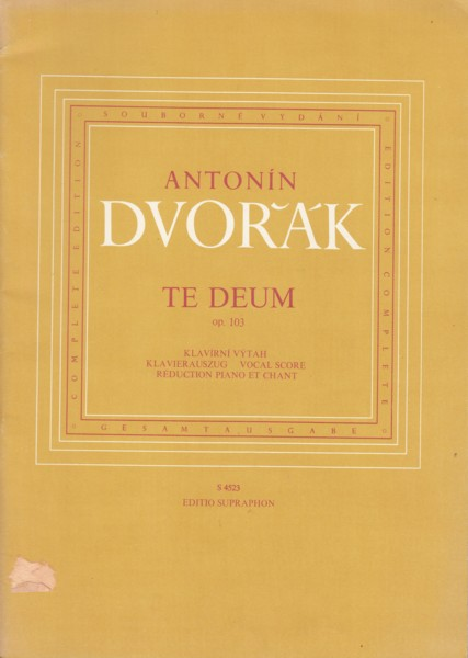 Image for Te Deum, Op.103 - Vocal Score