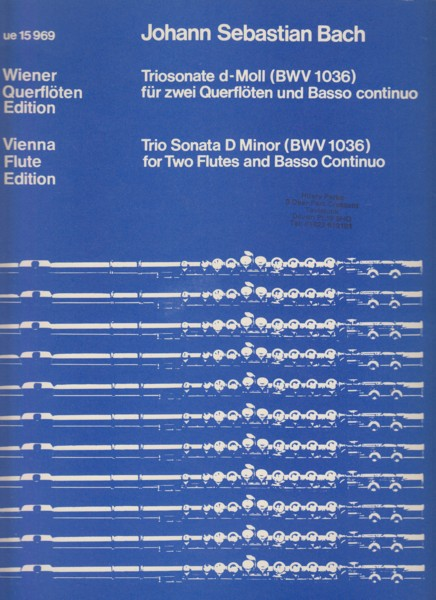 Trio Sonata in d minor, BWV1036 for Two Flutes and Basso Continuo - Set of Parts