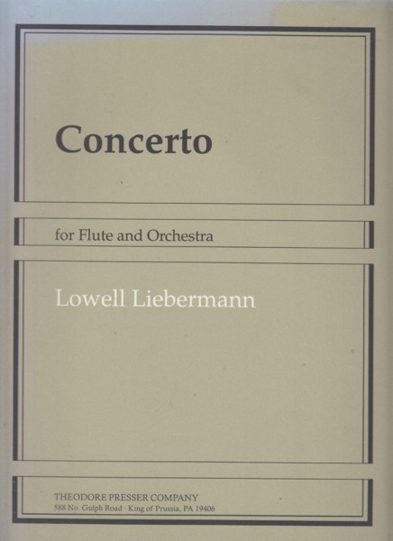 Image for Concerto for Flute and Orchestra, Op.39 - Flute & Piano