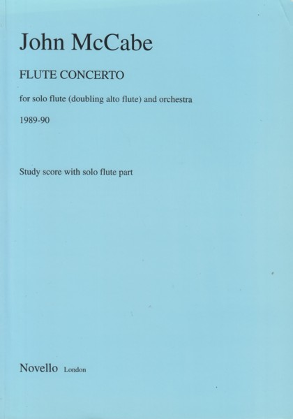 Image for Flute Concerto for Solo Flute (doubling alto flute) and Orchestra (1989/90) - Study Score with Solo Flute Part