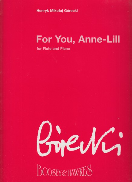 Image for For You, Anne-Lill for Flute & Piano