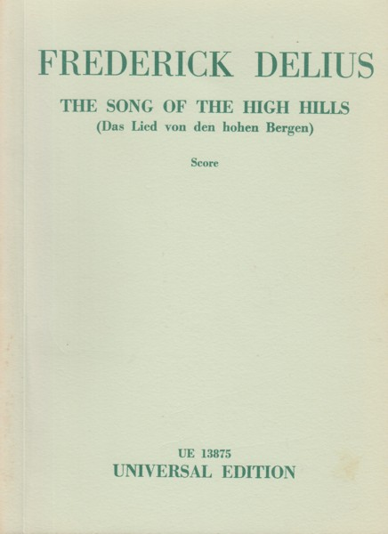 Image for The Song of the High Hills - Study Score