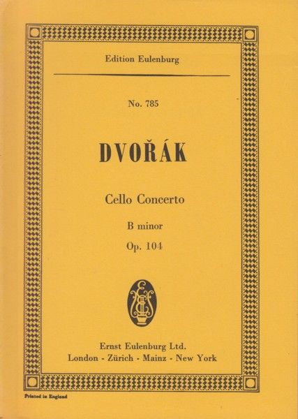 Image for Cello Concerto in b minor, Op.104 - Study Score