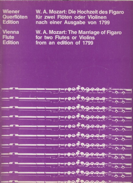 Image for The Marriage of Figaro for Two Flutes or Violins from an edition of 1799.