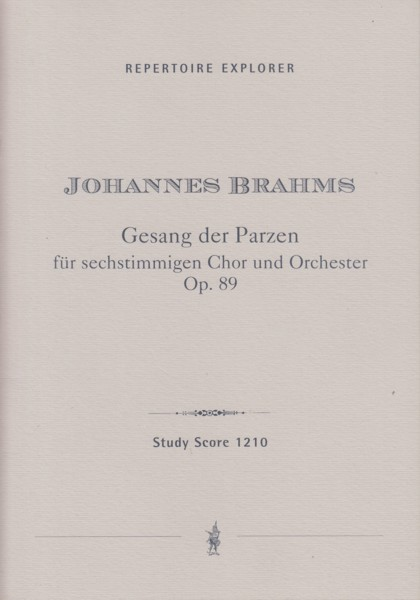 Image for Gesang der Parzen (Song of the Fates), Op.89 - Study Score