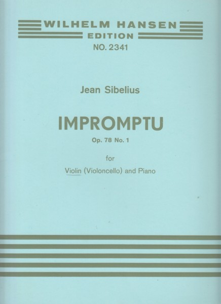 Image for Impromptu, Op.78 No.1 for Violin (or Cello) and Piano