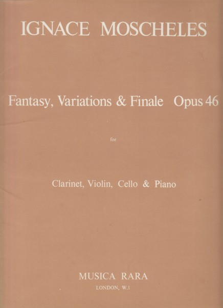 Image for Fantasy, Variations & Finale, Op.46 for Clarinet, Violin, Cello & Piano - Set of Parts