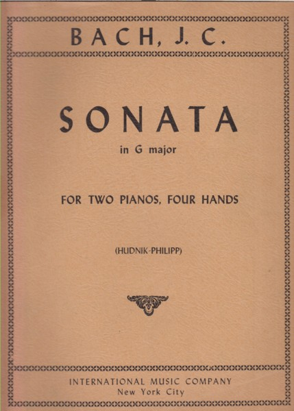 Image for Sonata in G major for Two Pianos, Four Hands