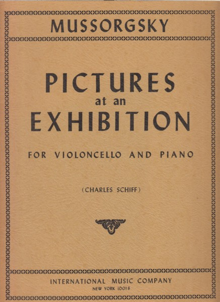 Pictures at an Exhibition for Cello and Piano
