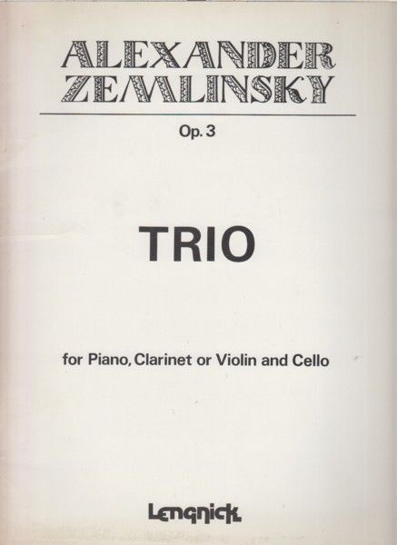 Image for Trio, Op.3 for Clarinet (or Violin), Cello and Piano - Set of Parts