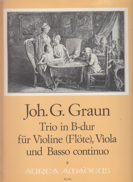 Image for Trio in B flat for Violin (or Flute), Viola & Basso Continuo - Set of Parts
