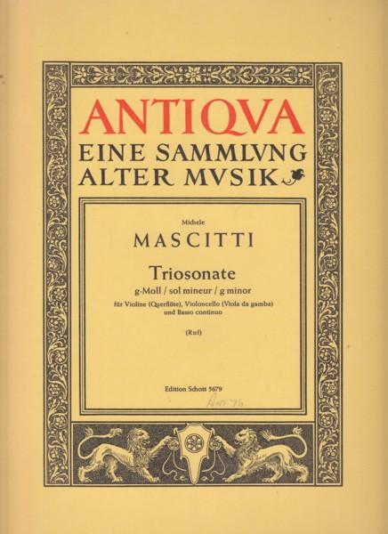 Trio Sonata in g minor, Op.6 No.15 for Violin (or Flute), Cello (or Viola da Gamba) and Basso Continu - Set of Parts